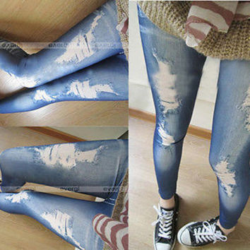 ripped jeans legging render pants leggings Hotwomen denim tight slim pencil pants