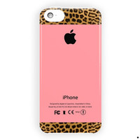 Apple Pink And Leopard Print For iPhone 5 / 5S / 5C Case