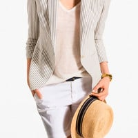 THICK-STRIPED BLAZER - Jackets & Blazers - WOMEN - SALE - United States