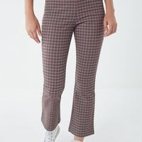 UO Lola Plaid Kick Flare Pant | Urban Outfitters