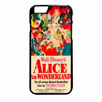 Old Disney Posters Alice In Wonderland iPhone 6 Plus case