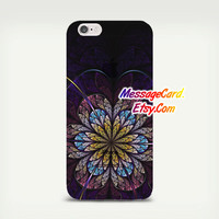 Mandala Clear Phone Case Cover for iPhone 6 6s plus , 6 6s , 5s 5 , 4s 4 , Pressed Clear iPhone 6 6s Case , Custom Clear iPhone 6 6s Case