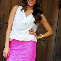 Wear A Warning Dress: Neon Pink | Hope's
