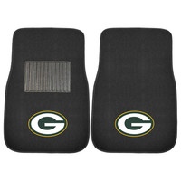 Green Bay Packers NFL 2-pc Embroidered Car Mat Set