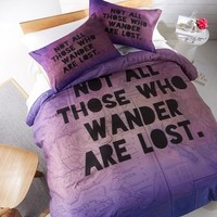 DENY Designs 'Those Who Wander' Duvet Cover Set