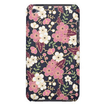 Cute Modern Spring Flower Pattern Girly Floral iPod Case-Mate Case
