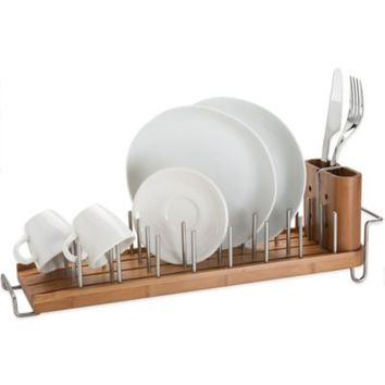 Bamboo Dish Rack and Drainer