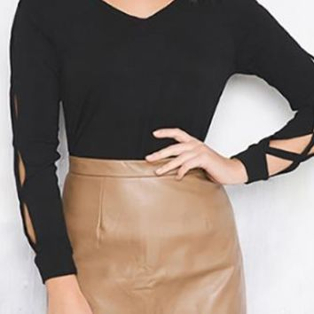 Going For It Beige High Waisted Faux Leather Mini Skirt