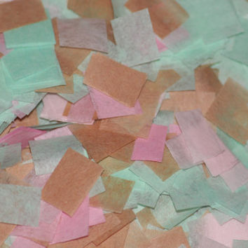 Tissue Paper Confetti, mint, pink & light brown, baby shower, bridal shower, wedding, birthday party, table decorations, push pop filler