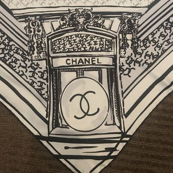Authentic Chanel 100% Silk Scarf