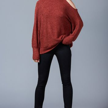 Women's One Cold Shoulder Knit Top
