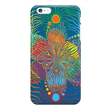 I phone Case Blue with Rainbow Design