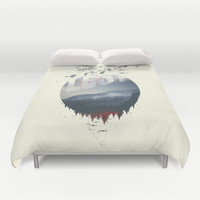 Happily lost Duvet Cover by HappyMelvin