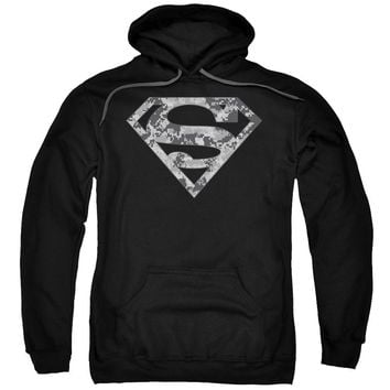 Superman - Urban Camo Shield Adult Pull Over Hoodie