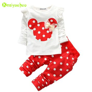 Children Clothing 2018 Spring Autumn Baby Girls Clothes Set T-shirt+Pants Outfits Kids Tracksuit For Toddler Girls Sport Suit