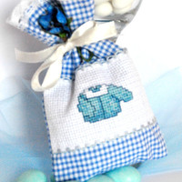 Set of 20 Baptism favors, Baby shower  favors, Christening favors, Gift bag, baby party, blue baby boy, bomboniere battesimo