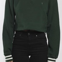 Vintage Polo Crop Sweatshirt