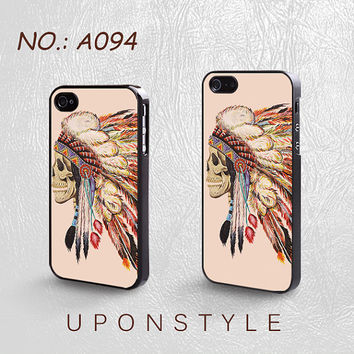 Phone Cases, iPhone 5 Case, iPhone 5s Case, iPhone 4 Case, iPhone 4s case, Death Skeleton Head, iPhone Case, Case for iphone, Case No-094