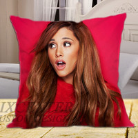 "Ariana Grande 3 on square pillow cover 16"" 18"" 20"""