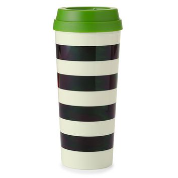 Black Stripe Thermal Mug - Kate Spade