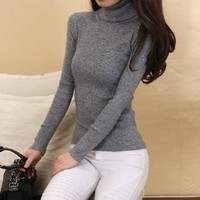 Women's Pullovers 92%Cashmere and Thin wool sweater