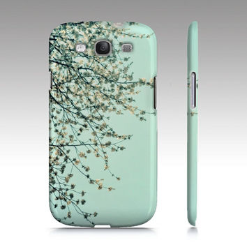 Spring Tapestry White Flowers Samsung Galaxy S3 Case