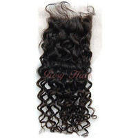 12 inch Natural Black Curly Malaysian Hair Lace Closure [MLC1301001] - £55.06 : RosyHair.co.uk