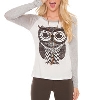 Owl City Long Sleeve Top