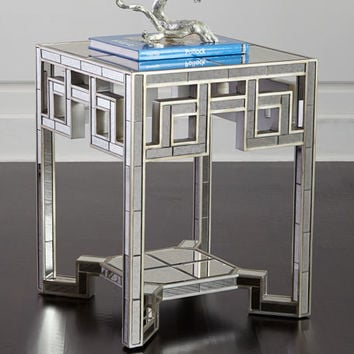 Regina-Andrew Design Lattice Mirrored End Table