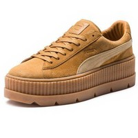 ONETOW PUMA FENTY BY RIHANNA WOMENS CLEATED CREEPER SUEDE - LIGHT BROWN/BEIGE