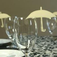 Umbrella Place Cards by TimelessPaper on Etsy