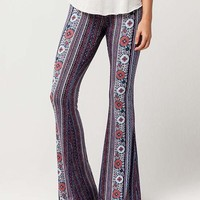 PATRONS OF PEACE Floral Medallion Womens Flare Pants | Pants + Joggers
