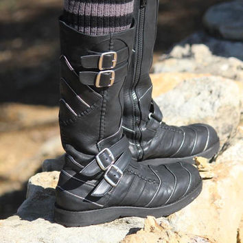 AAyyawear Moto Boots - Hand Crafted Leather by Ayya - Woman's - Steampunk SCA