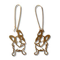 French Bulldog Pendant Earrings