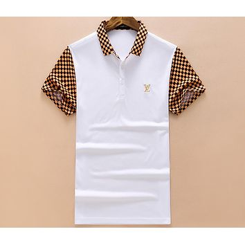 LV Louis Vuitton 2018 summer new men's casual loose short-sleeved T-shirt F-A00FS-GJ white