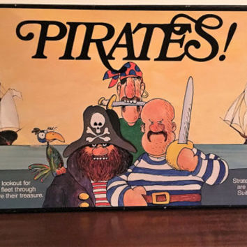 Vintage 1989 Pirates Board Game by the Jigsaw Toy Factory / Strategy Game / Australia Made