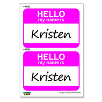 Kristen Hello My Name Is - Sheet of 2 Stickers