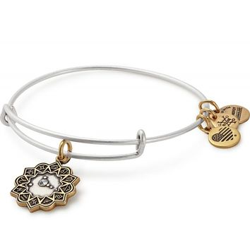 Cancer Two Tone Charm Bangle
