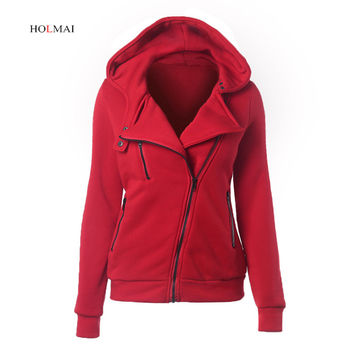 Cotton Hooded Women Jacket 2016 New Fashion Autumn Winter Casual Women Coat Slim Outwear Warm Clothing Chaquetas Mujer  8 Colors
