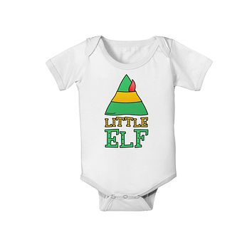 Matching Christmas Design - Elf Family - Little Elf Baby Romper Bodysuit by TooLoud