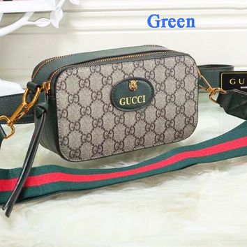 Gucci Tiger Head Camera Bag Women Waist Bag Shoulder Bag Full Color B-WMXB-PFSH Green