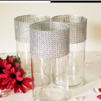 "Tall Wedding Vases 12"" (Set of 10) Bling Centerpieces-Wedding Table Centerpieces, Floral Centerpieces, Wedding Reception Decor, Flower Vases"
