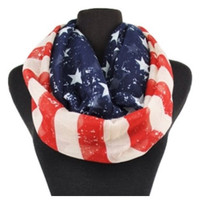 Celebrate America! Eye Catching Patriotic Acid Wash American Flag Infinity Scarf, Accessories