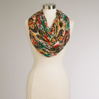 Red and Green Ikat Infinity Scarf | World Market