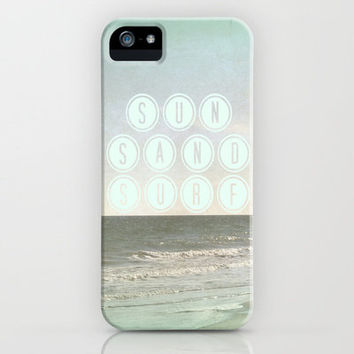 Sun, Sand, Surf  II iPhone Case by Shawn Terry King | Society6 3, 3G, 4, 4S, & 5 free shipping on most products through 2/24