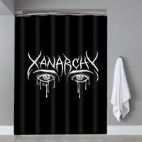 Top Famous Lil Xan Xanarchy Logo Custom Shower Curtain Limited Edition