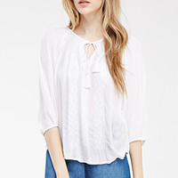 Tasseled Peasant Top