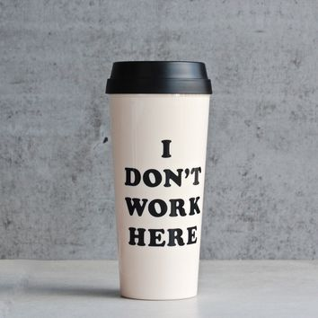 ban.do - hot stuff thermal mug - i don't work here