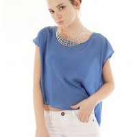 BLUE CHIC OPEN BACK TOP @ KiwiLook fashion