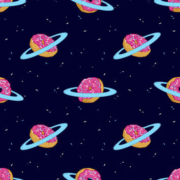 Sugar Rings of Saturn Removable Wallpaper